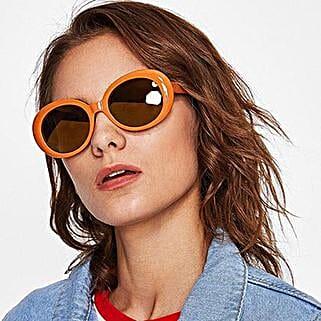 Prishie Rusty Orange Sunglasses For Female: Sunglasses Gifts