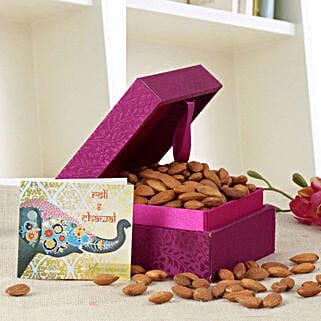 Purple Box Of Almonds: Bhai Dooj Gifts to Agra