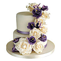 Purple Cascade: Wedding Cakes to Lucknow