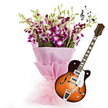 Purple Orchid Melodies: Send Flowers for Parents