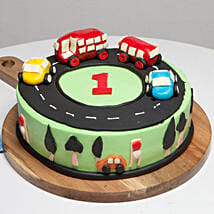 Race Track First Birthday Cake: Mango Cakes to Noida