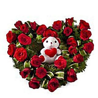 Radiant Rage: Valentine Flowers & Teddy Bears
