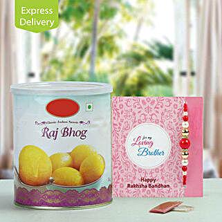 Rajbhog with Rakhi: Send Rakhi With Sweets to Delhi
