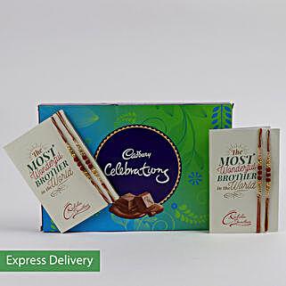 Rakhi And Cadbury Celebrations: Set of 4 Rakhi