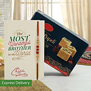 Rakhi Crispy Soan Papdi Combo: Raksha Bandhan Sweets