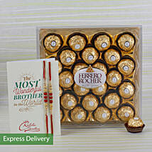 Rakhi Ferrero Rocher Combo: Send Rakhi to Hyderabad