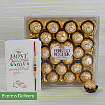 Rakhi Rocher Combo: Send Rakhi to Bhopal