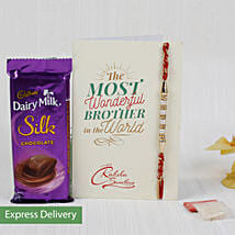 Rakhi With Dairy Milk Silk Chocolate: Rakhi - Same Day Delivery