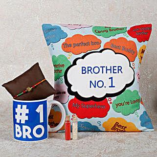 Rakhi With Mug & Cushion: Rakhi With Mugs