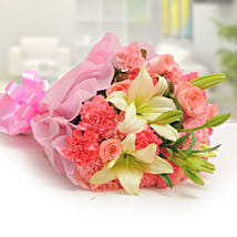 Ravishing Mixed Flowers Bouquet: Send Lilies