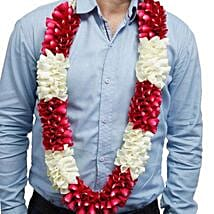 Red and White Flower Garland: