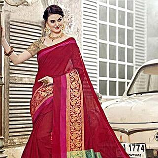 Red Art Silk Saree: Apparel Gifts