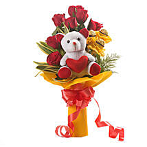Red Choco Bouquet: Send Flowers & Teddy Bears for Friendship Day