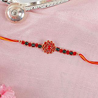 Red Flower Rakhi: Fresh Flower Rakhi