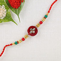 Red Kundan Rakhi: Rakhi to Nandyal
