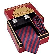 Red N Blue Tie Set: Accessories for Him
