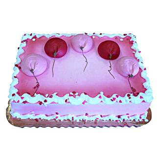 Red N Pink Balloons Cake: Cakes to Thoppumpady