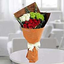Red N White Enchanted Bunch: Designer Bouquet
