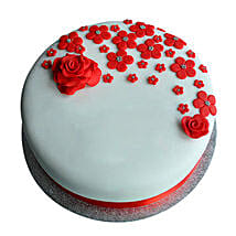 Red Roses Anniversary Fondant Cake: Cakes to Alwaye