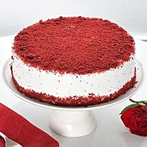 Red Velvet Fresh Cream Cake: Bhai Dooj Gifts Dehradun