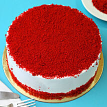 Red Velvet Fresh Cream Cake: Bhai Dooj Gifts Ludhiana