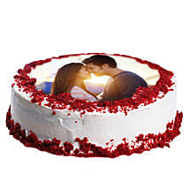 Red Velvet Photo Cake: Photo Cakes to Ludhiana