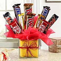 Relish Of Heavenly Treat: Mothers Day Chocolate Bouquet