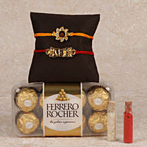 Rocher And 2 Rakhis Combo: Send Rakhi to Amalapuram