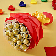Rocher Choco Bouquet: Karwa Chauth Gifts Dehradun