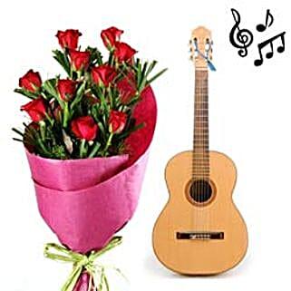 Romance Via Red Roses N Music: Send Flowers & Guitarist Service