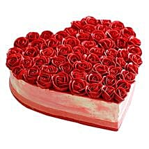 Rose Cake: Send Chocolate Cakes to Jaipur