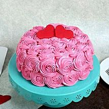 Rose Cream Valentine Cake: Gifts for Propose Day