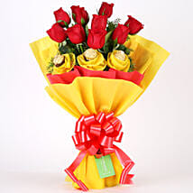 Roses N Chocolates Delight: Chocolate Bouquet for Girlfriend