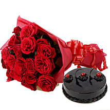 Roses N Chocolaty Love: Flower Bouquets Patna