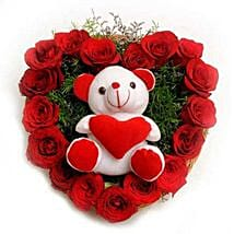 Roses N Soft toy: Flowers & Teddy Bears - Love