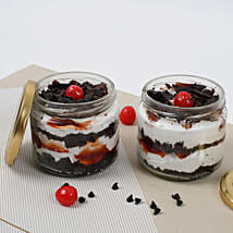 Set of 2 Sizzling Black Forest Jar Cake: 1St Anniversary Cakes