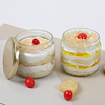 Set of 2 Sumptuous Pineapple Jar Cake: Birthday Gifts for Husband