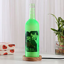Shining Memory Personalized Lamp: Gold Rakhi