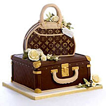 Showy LV Bag Cake: Send Wedding Chocolate Cakes