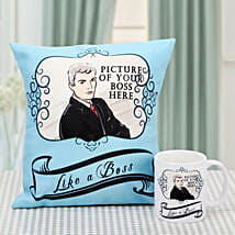 Simply Elegant Personalized Combo: Send Personalised Cushions - Love