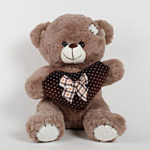 Small Teddy Bear With Heart & Patch Brown: Send Soft Toys for Kids