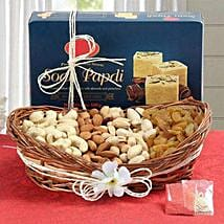 Soan Papdi N Dry Fruits Hamper: Bhai Dooj Gifts Mangalore
