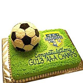 Soccer Cake: Congratulations Cakes