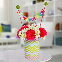 Special Birthday Vase Arrangement: Best Seller Gifts