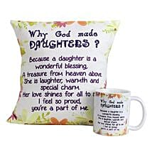 Special Daughters Cushion and Mug: Send Birthday Cushions