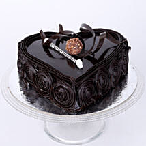 Special Heart Chocolate Cake: Eggless Cakes for Anniversary