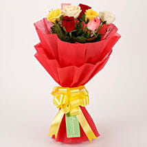 Special Mixed Roses Bouquet: Valentines Day Roses for Him