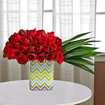 Spectacular Roses Arrangement: Flower Delivery In Chandigarh