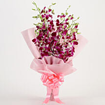 Splendid Purple Orchids Bouquet: Flowers to Varanasi
