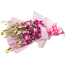 Splendid Purple Orchids: Anniversary Gifts Vasai